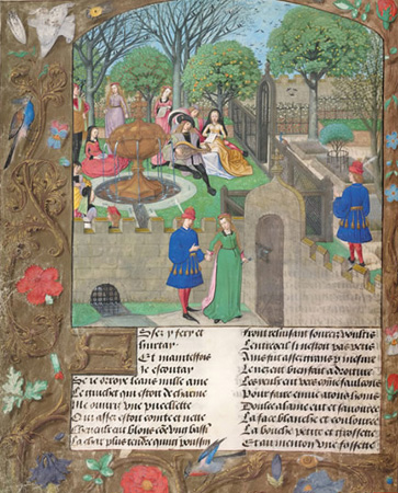 Image of the Garden of Pleasure, from Le Roman de la Rose
