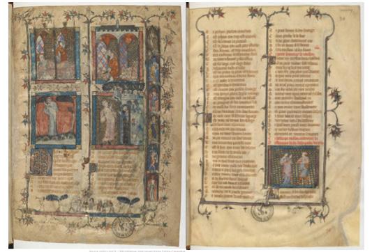 Ms 1126-1127 : Roman de la Rose. Le roman de la Rose, par Guillaume de Lorris et Jean de Meung